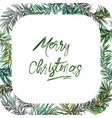 frame with fir tree vector image