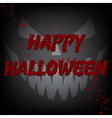 Happy Halloween Bloody Card Devil Face vector image vector image