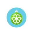 Icon Green Ball with Snowflake vector image vector image