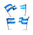 independence day of argentina a set of flags vector image vector image