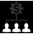Industrial Bank Clients Flat Icon vector image vector image