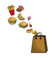 isolated fast food design vector image
