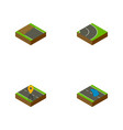 isometric road set of plash navigation asphalt vector image vector image