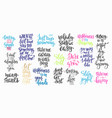 lettering typography calligraphy overlay set vector image vector image