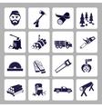 Lumberjack icon set vector image vector image