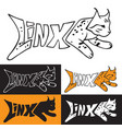 lynx from inscription vector image