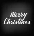 merry christmas brush hand lettering vector image vector image