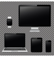 Modern digital devices design template vector image vector image
