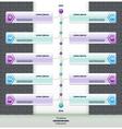 Modern timeline design template eps 10 vector image