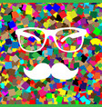 mustache and glasses sign white icon on vector image
