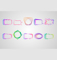 neon asymmetric rectangular frame of lines set vector image vector image
