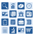 One tone Business and Office Internet Icons vector image vector image