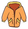 orange coat on white background vector image vector image