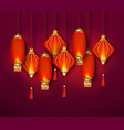 oriental red lantern decoration from china vector image vector image