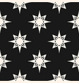 ornament geometric pattern with star shapes black vector image vector image