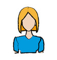 portrait woman young character people vector image vector image