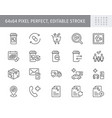 prescription refill line icons vector image