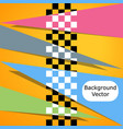 racing square background vector image vector image
