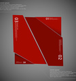 Rectangle randomly cut to four parts on dark vector image vector image