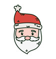 santa claus face character merry christmas vector image vector image