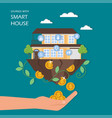 savings with smart house flat vector image vector image