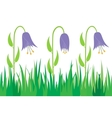 Seamless grass and flowers vector image vector image