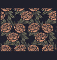 seamless vintage pattern with peony flowers for vector image vector image