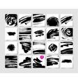 set of 20 black ink brushes grunge square pattern vector image vector image