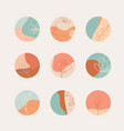 Set pastel colors highlight covers