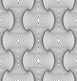 Slim gray vertical striped building waves vector image