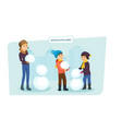small children make winter snowman play on the vector image vector image