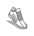 sports running shoes icons line style vector image