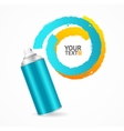 Spray Can Write Speech Bubble vector image vector image
