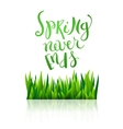 Spring never ends vector image vector image