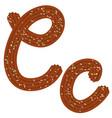 tempting tipography font design 3d letter c of vector image