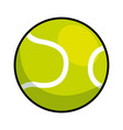 tennis ball isolated icon vector image vector image