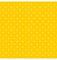 Tile pattern white polka dots on yellow background vector image vector image