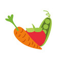 vegetable fresh organic vector image vector image