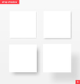 White square banners with drop shadow vector image vector image
