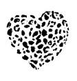 wild leopard heart print vector image vector image