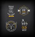 Wild west badges design Vintage western elements vector image vector image