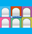 window frame template for product presentation vector image vector image