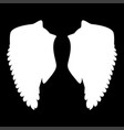 wing the white color icon vector image vector image