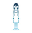 woman full body with dress and heel shoes with mid vector image