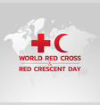 world red cross and red crescent day logo icon vector image vector image