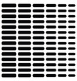 halftone black element in rows on white vector image