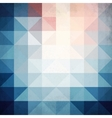 Abstract blue triangles geometry background vector image