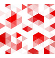 abstract seamless pattern made red colored vector image vector image