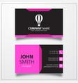 Air balloon icon business card template