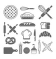 bakery and pastries set design elements vector image vector image